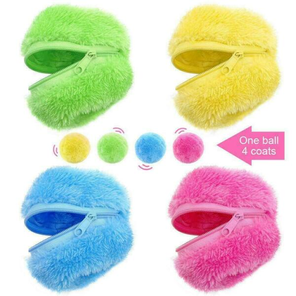 Magic Roller Ball Automatic Dog Cat Toys Robotic Microfiber Mop Sweeper C0P6 $8.45