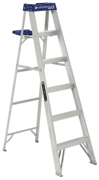 Louisville Ladder AS2106 6 ft Aluminum Step Ladder Type I250 lbs Load Capacity