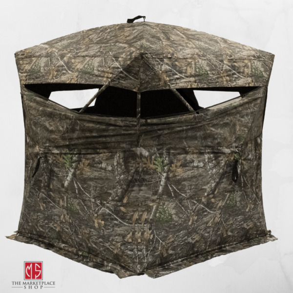 Rhino Blinds Hunting Blind Oversized 75quot; x 75quot; Realtree Edge Camo Hub Style NEW