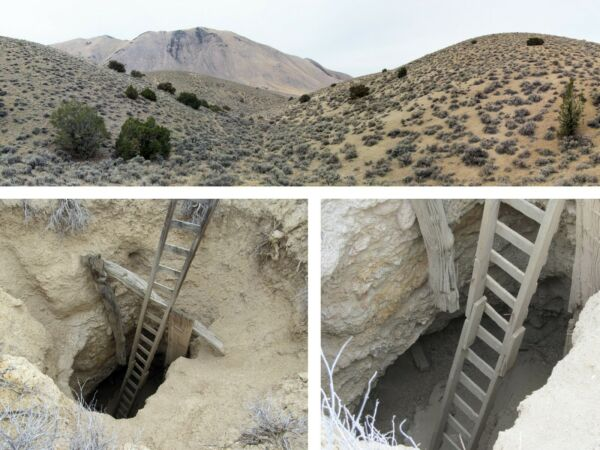Historic Bell Mountain Mining Dist Nevada Free Mill Lode Gold+Silver Mine Claim