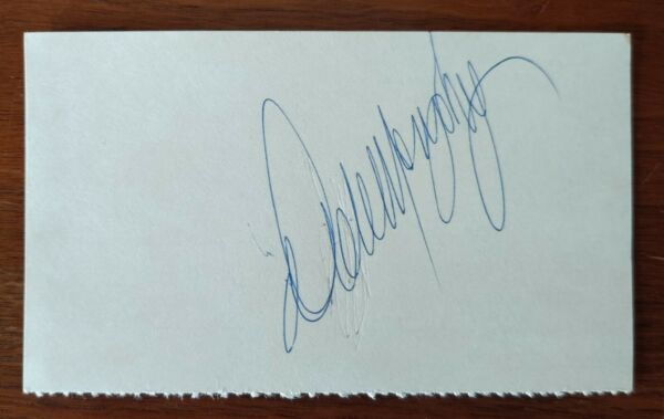 Dale Murphy autographed 3x5 Index Card blue ink Braves Phillies