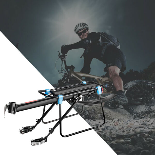 New Rear Bicycle Rack Cargo Rack Bike Quick Release Mount Alloy Carrier USA