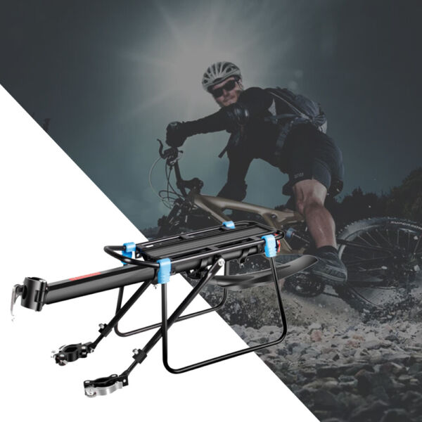 New Rear Bicycle Rack Cargo Rack Bike Quick Release Mount Alloy Carrier USA $19.79