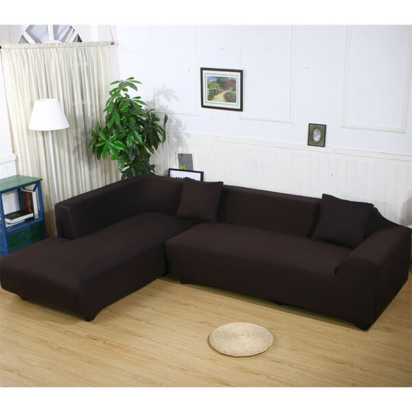 Stretch Fabric Sofa Slipcover Elastic Sectional Furniture Cover Protector Couch $18.99