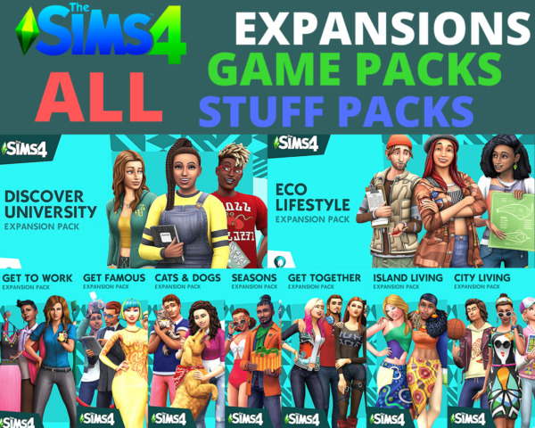 ⭐️ The Sims 4 ALL Expansions GAME amp; STUFF packs Origin Account PC amp; Mac $21.90
