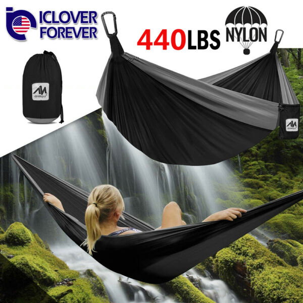 Camping Hammock Travel Portable Tent With Mosquito Net Nylon Double Lightweight $26.99