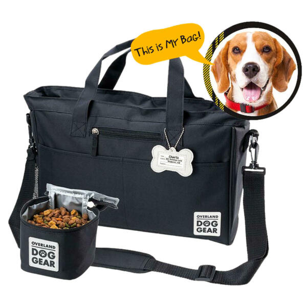 Overland Dog Gear Day Away Tote with Lined Food Carrier $54.86