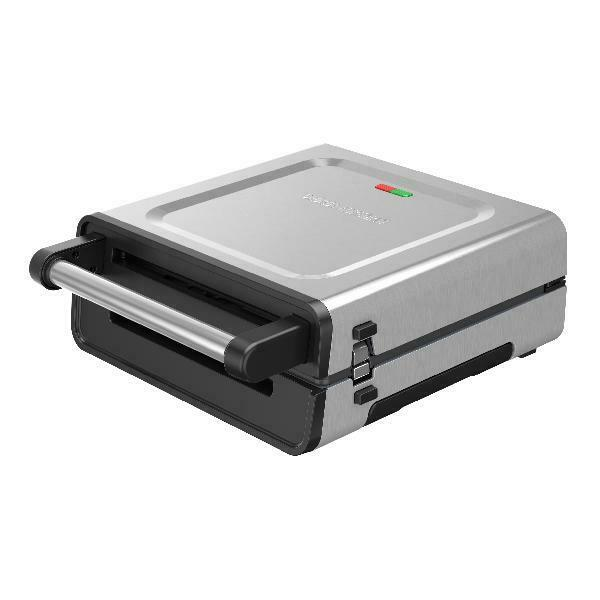 George Foreman Contact Smokeless Ready Grill Family Size 4-6 Servings GRS6090B-1