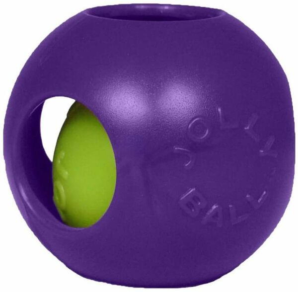 Jolly Pets Teaser Ball Erratic Floats Interactive Tough Dog Toy Purple 4.5 inch $9.83