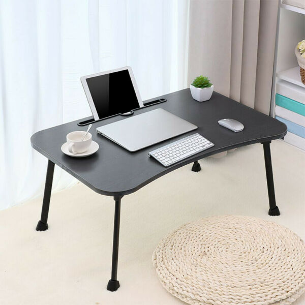 Large Bed Tray Foldable Portable Multifunction Laptop Desk Lazy Laptop Table $19.99