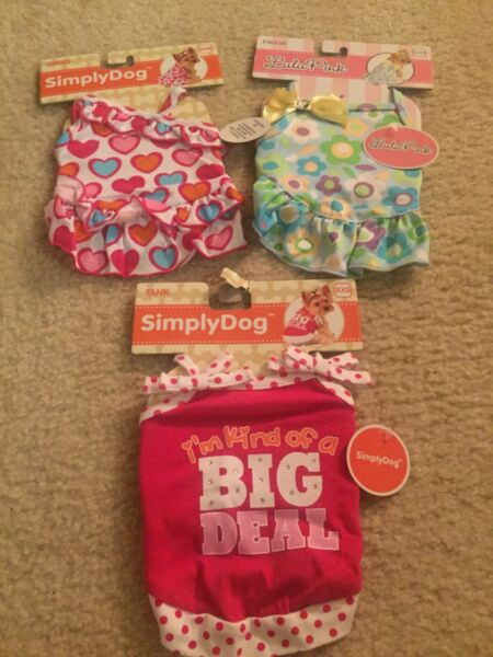 Lot of dog clothes size xxs...NWT So cute  $32.99