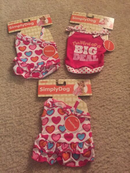 Lot of dog clothes size xxs...NWT Cute $32.99