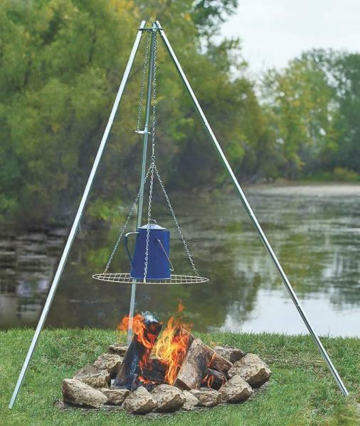 NEW COGHLAN#x27;S 9340 ADJUSTABLE HEIGHT GALVANIZED CAMP FIRE COOKING TRIPOD 2757870