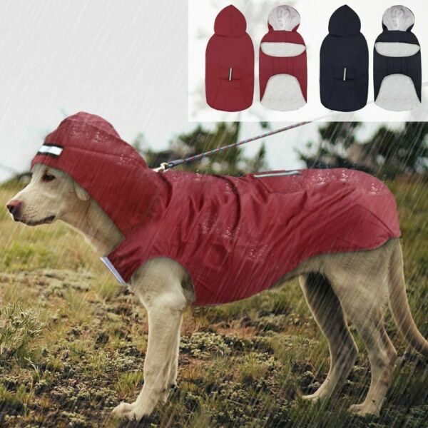 Pet Dog Raincoat Waterproof Clothes Coat Rain Jacket Husky Big Dog Large 3XL 5XL $20.69