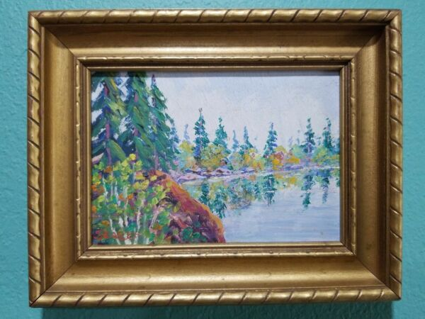 Vintage Minnesota Painting oil on board by Listed artist E. M. Seager