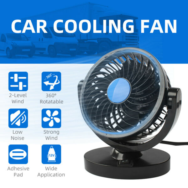 Universal 12V Mini Air Fan Powered Truck Car Vehicle Cooling Adsorption Summer