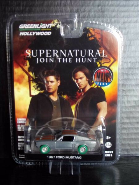 Greenlight 67 Ford Mustang Supernatural Raw Green Machine 164 Diecast 148 Made