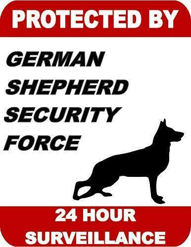 Protected by German Shepherd Dog Security Force 24 Hour Surveillance Dog Sign SP