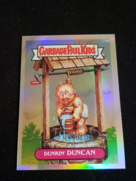 Garbage Pail Kids 2013 Chrome SERIES 1 Refractor L14a DUNKIN DUNCAN LOST CARD