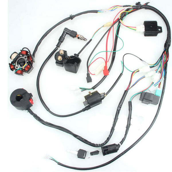 Electric Wiring Harness CDI Stator Kit for 50CC 70CC 90CC 110CC ATV QUAD GO KART $43.89