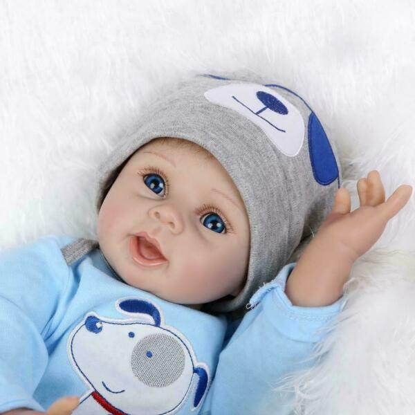 Handmade Soft Baby Solid Silicone Vinyl Reborn Real Lifelike Baby Doll 22