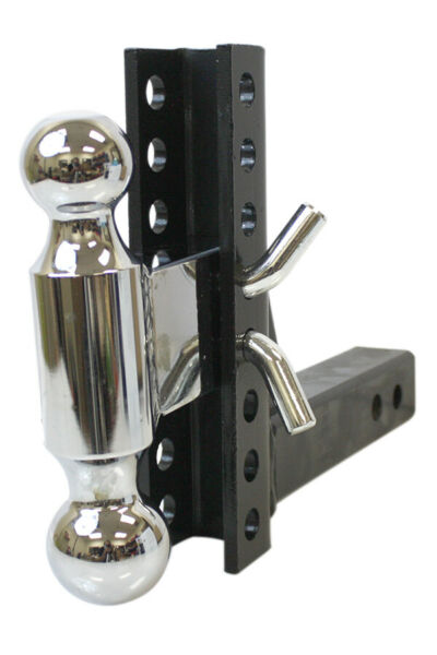 Trailer Tow 8quot; Drop Rise Dual Adjustable Hitch Ball Mount w 2quot; Solid Shank $82.99