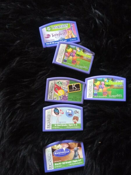 Leapfrog Leapster Explorer Game TANGLED Leap Pad the backyardigans and more lot $4.20