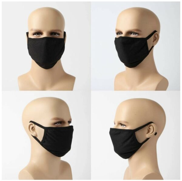 3 Pcs Large XL Cloth Face Mask Washable Reusable Cotton Mouth Cover Men Women