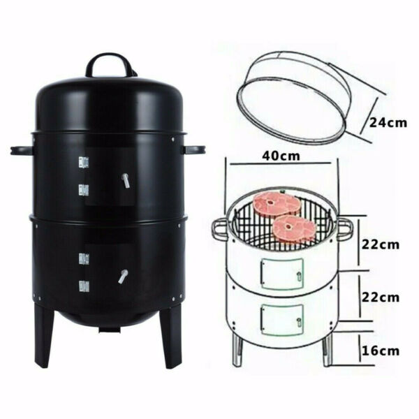 Charcoal BBQ Smoker Grill Vertical Smoker for Outdoor Cooking Grilling
