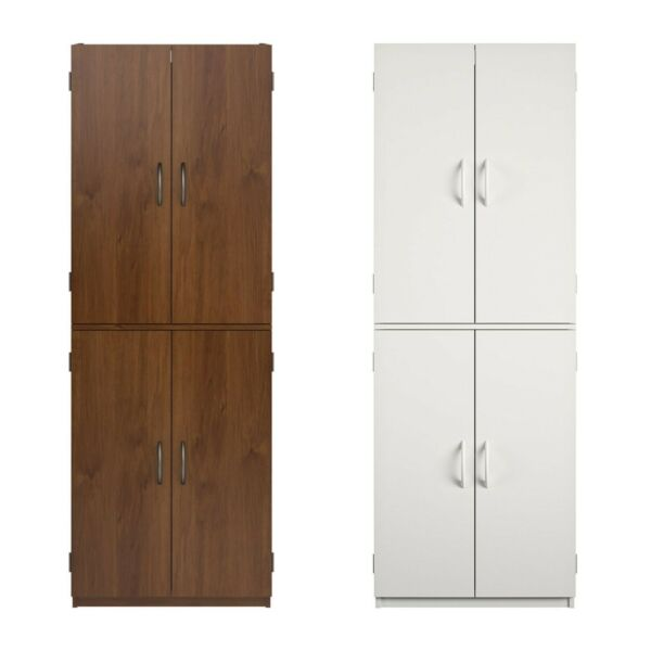 4 Doors Tall Storage Cabinet for Any Room Pantry Cupboard Organizer Home Office