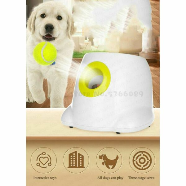 Dog Pet Toy Tennis Launcher Automatic Throwing Machine Ball Section with 3 Balls $103.54