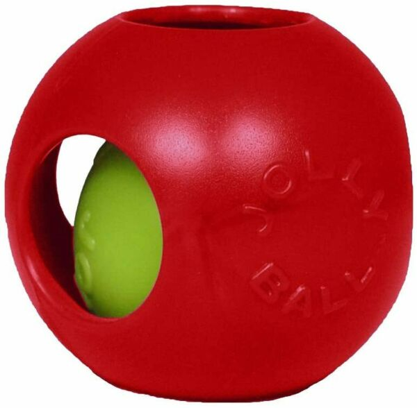Jolly Pets Teaser Ball Dog Toy Small4.5 Inches Red $8.69