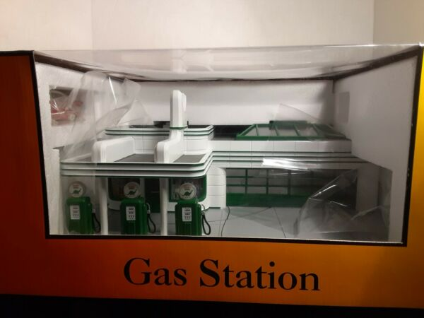 Mth railking o scale buildings Sinclair Gas Station New in box Never USED