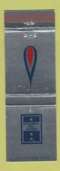 Matchbook Cover Columbia Gas System $3.99