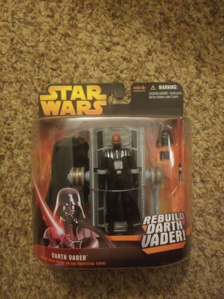 New REBUILD DARTH VADER Operating Table ROTS Star Wars Revenge Sith Figure 2005