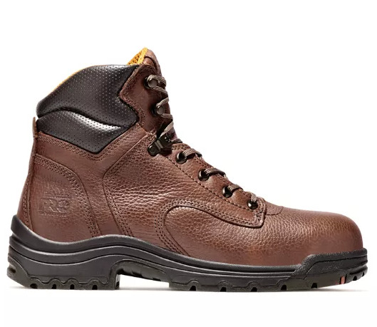NIB Men#x27;s Timberland PRO TiTAN 6quot; Comp Toe Work Boots Brown Leather $86.99