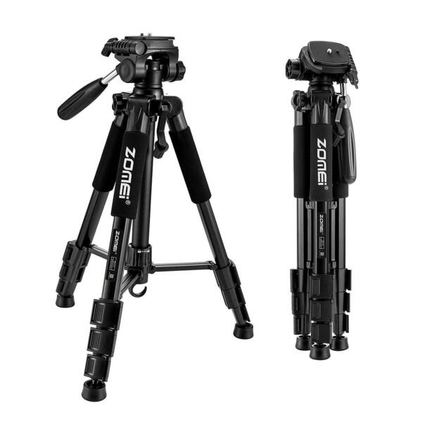 ZOMEI 55quot; Professional Aluminum Travel Portable Camera Tripod for Live Black