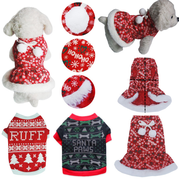 Pet Dog Xmas Sweater Puppy Cat Christmas Costume Winter Warm T shirt Clothes USA $8.99