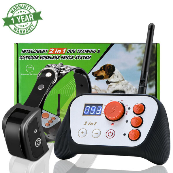Wireless Electric Dog Pet Fence Containment System Training Collar Waterproof US $33.40