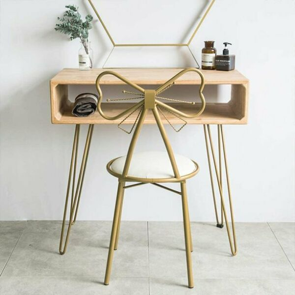 Round Vanity Stool Makeup Pad Seat Dressing Chair for Living amp; Bedroom Sofa