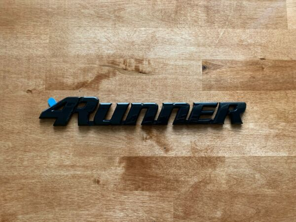 96 02 Black 4Runner Liftgate Nameplate Emblem Badge Logo Tailgate Rear Letter