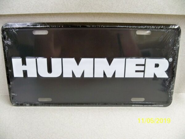 Original General Motors Hummer H1 H2 H3 metal SUV truck license plate NEW $12.98