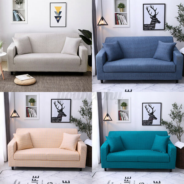 1 2 3 Seater Stretch Chair Sofa Cover Slipcover Couch Loose Furniture $25.74