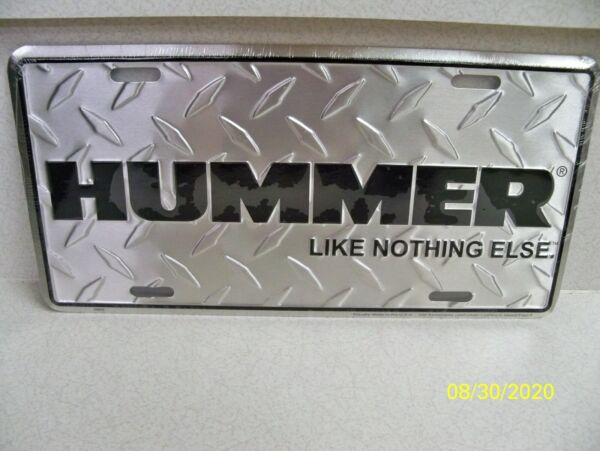 General Motors Hummer H1 H2 H3 Diamond cut metal SUV truck license plate $12.98