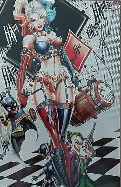 White Widow #3 Puddin Shorts Exclusive METAL Cover Jamie Tyndall Signed Edit NM