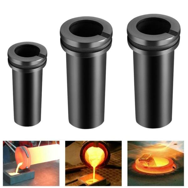 1 2 3KG High Purity Graphite Crucible Smelting Tool for Electric Melting Furnace $27.77