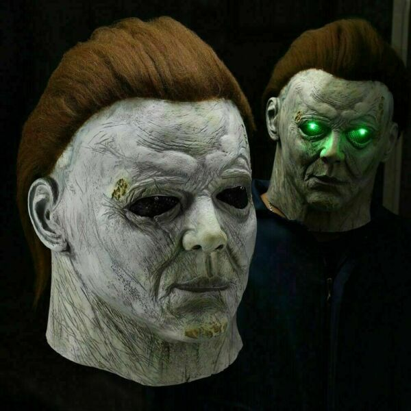 Horror Michael Myers LED Halloween Kills Mask Cosplay Scary Killer Full Face US