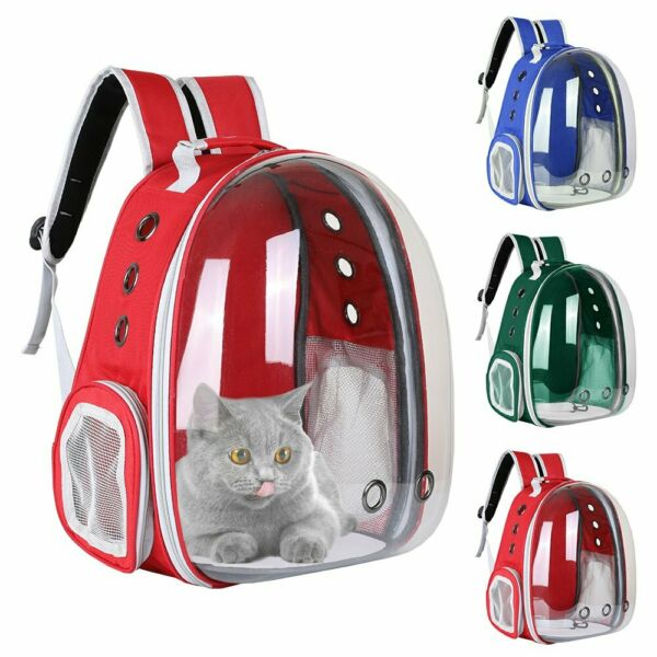 Pet Portable Carrier Backpack Space Capsule Travel Dog Cat Bag Transparent $28.95