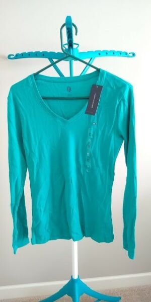 New Teal Long Sleeve Tommy Shirt M $15.00