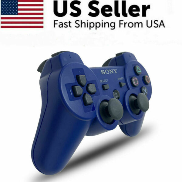 Blue Controller GamePad for Sony PlayStation 3 DualShock 3 PS3 Wireless SixAxis $22.94
